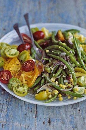 green bean corn tomato salad